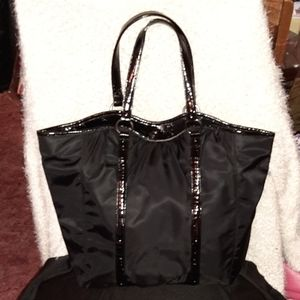 Ann Taylor never full tote black  with ted lining